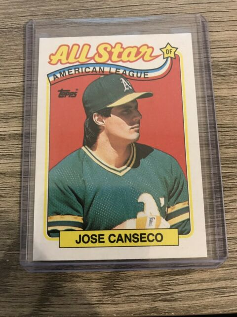 Jose Canseco 1989 Topps All Star Oakland Athletics Card 401 Excellent Conditio