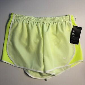 440b34e7f5 Nike Girl's Dry Tempo Running Shorts Neon Green (Little Kids/Big ...