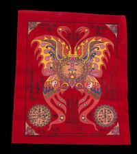 Yantra Pha Yant Talisman Kruba Krissana Amulette Thaïlande en tissu-rouge-1589