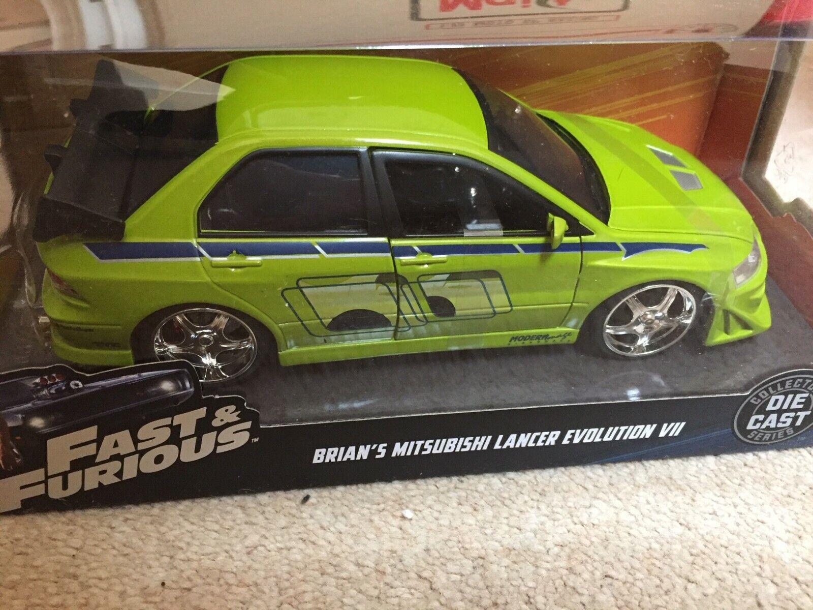 NEW Jada Toys JADA99788 Brians Mitsubishi Lancer Evolution VII Fast /& Furious 1:24