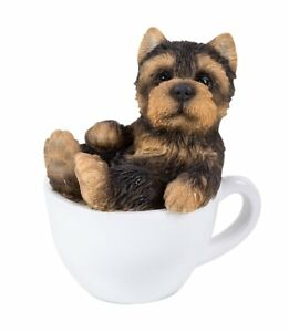 Cute Yorkshire Terrier Yorkie Puppy Dog Teacup Pet Pal Mini Figurine