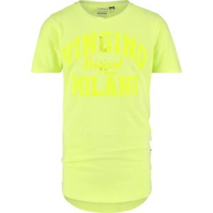 VINGINO Jungen T-Shirt B-LOGO-TEE-GD-RNSS neon yellow organic cotton Gr.128-176