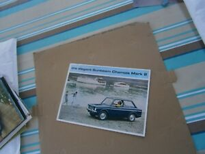 Catalogue-pub-auto-prospectus-voiture-Sunbeam-Chamois-Mark-2-en-Anglais