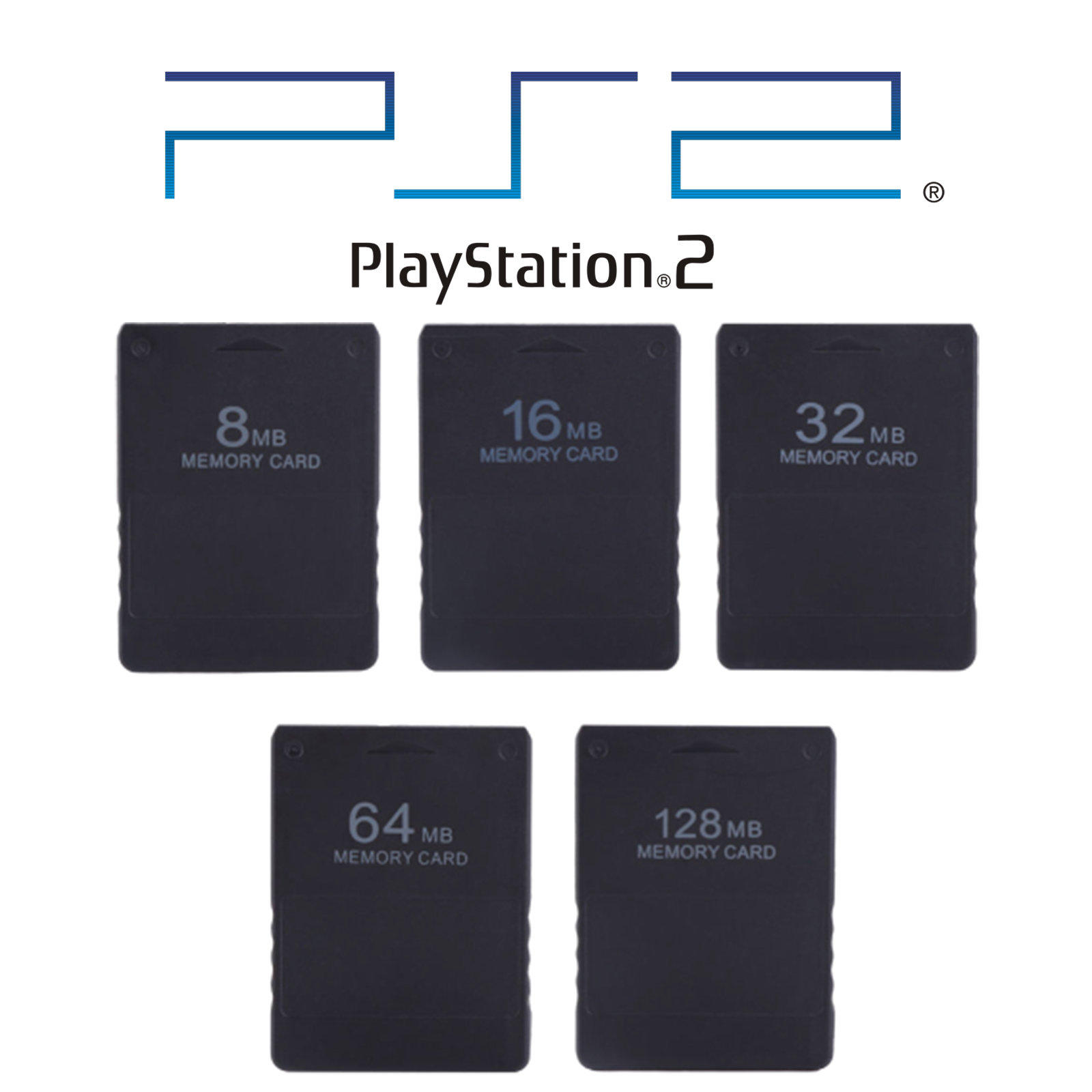 PS2 Memory Card Data Stick for Playstation 2 - 8MB/ 32MB / 64MB / 128MB / 256MB