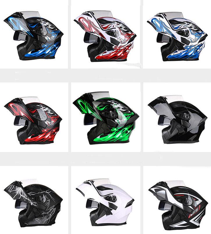 blueetooth Motorcycle Helmet Integrated Flip Up Motorbike Helmet DOT S M L XL 2XL