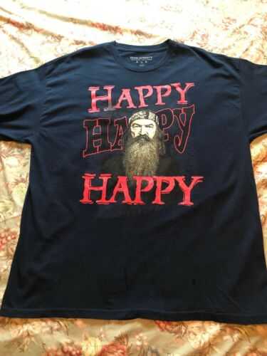 Duck Dynasty Gildan Mens T-Shirt Blue Size 2XL, Ha
