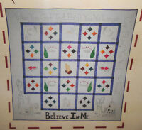 Unseen Hands Believe In Me-inspirational Applique & Embroidery Quilt Pattern