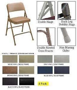 Awe Inspiring Details About Folding Chairs National Public Seating 1200 Vinyl Upholstered Chair 4 Pack Ocoug Best Dining Table And Chair Ideas Images Ocougorg