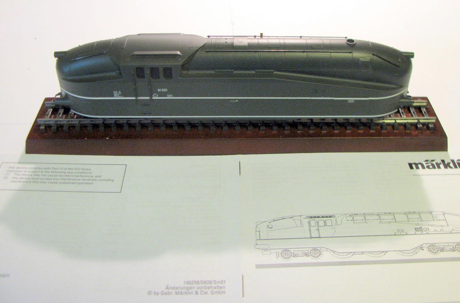 39618 locomotiva a vapore BR 61 HENSCHEL WEGMANN neuwertin IN SCATOLA ORIGINALE