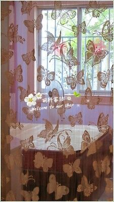 Fashion Door Window Panel Room DividerButterflyString Curtain Cute Tassel W100
