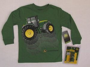 Nwt john deere boys 4 5 6 7 green shirt tee tractor with toy for John deere shirts for kids