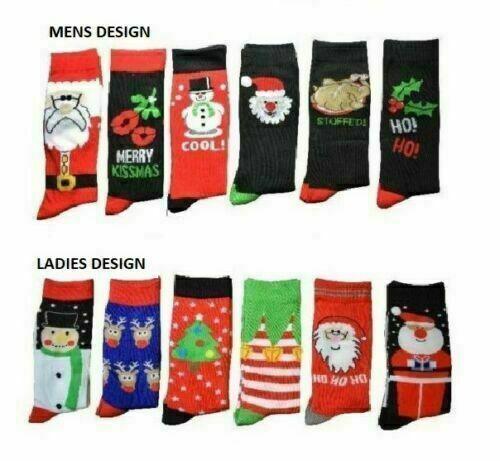 Mens Christmas Socks,Xmas,Character,Novelty,Secret Santa,Stocking Filler,Gift