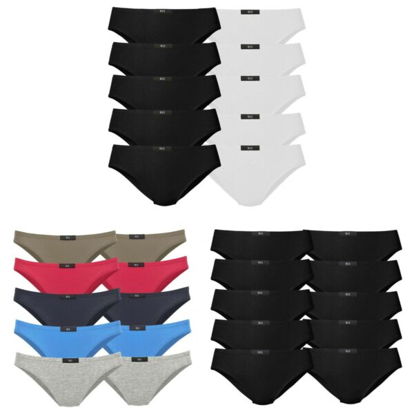 10 HIS Damen Slips Schlüpfer Unterhose Unterwäsche Baumwolle Elasthan H.I.S