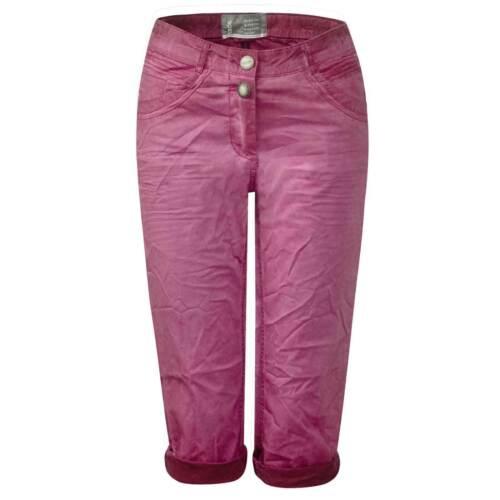 CECIL 370800 Victoria Stretch Capri Hose Bermuda 3//4 Shorts pink Crinkle W 28 W2