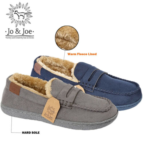 KIDS BOYS NEW FUR LINED WARM WINTER SUEDE SLIP ON MOCCASIN SHOES  SIZES UK 1-6