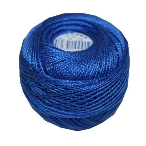 5572 PERLOVKA Kreuzstichgarn Baumwolle Perlgarn 10g 85m Tex60*2 blau