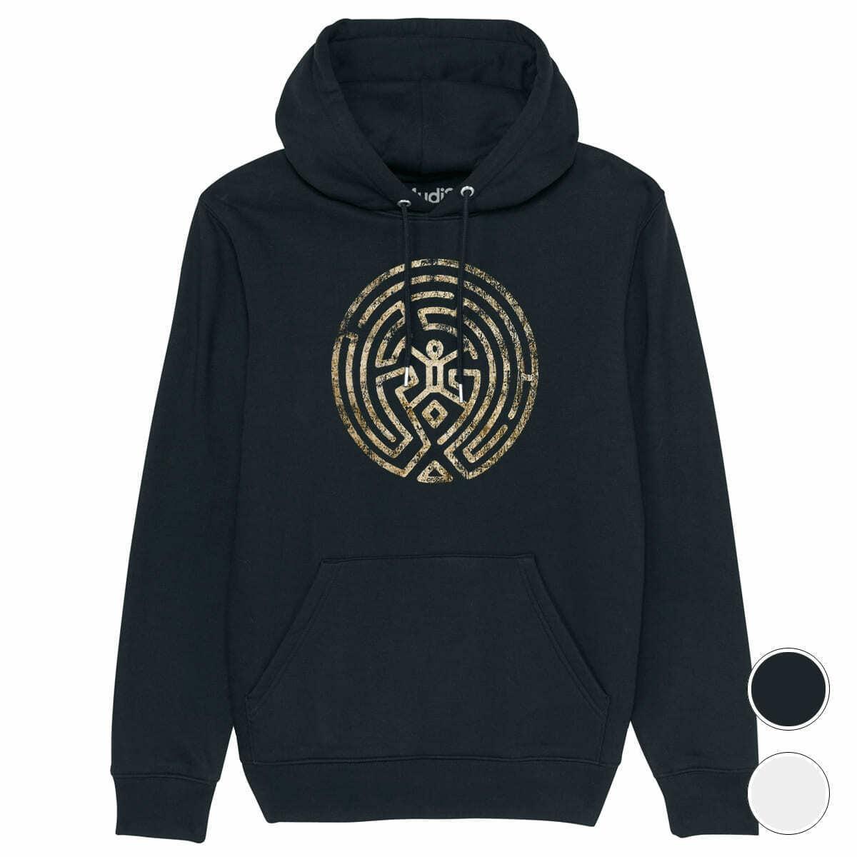 Hoodie THE MAZE   Westworld labyrinthe -  sweat à capuche coton organique bio  venta