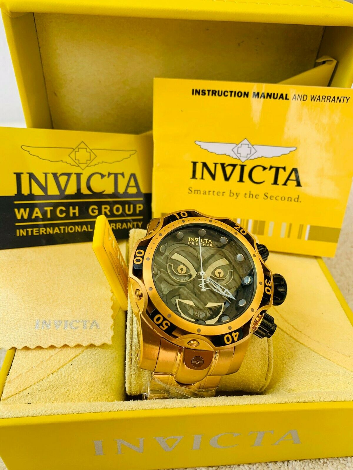Invicta 25979 Reserve JOCKER Cuarzo Suizo reloj En Oro 18kt EDICION LIMITADA