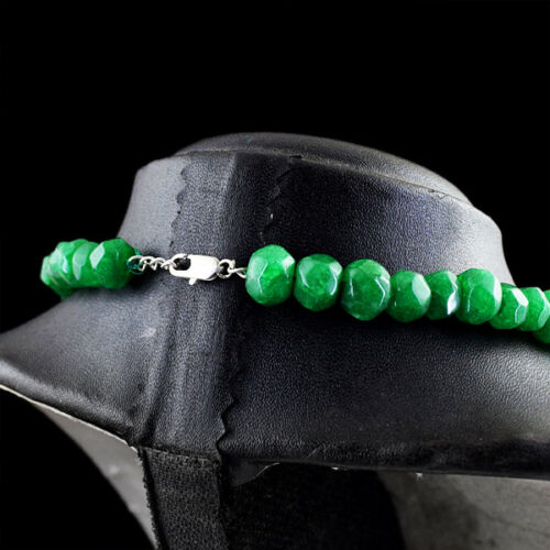 360.00 cts Earth mined forme ronde vert émeraude à Facettes Perles Collier NK 10MF7