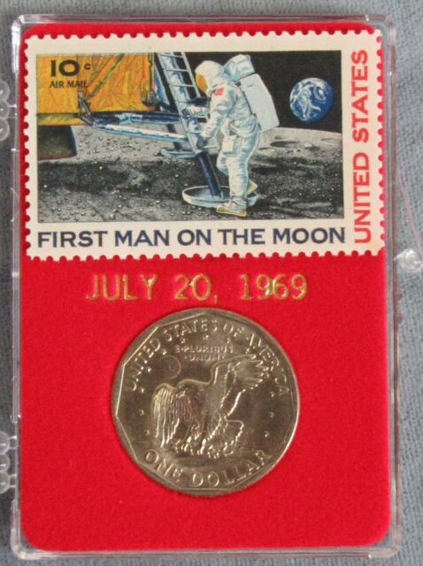 United States First Man On The Moon Stamp SBA Dollar