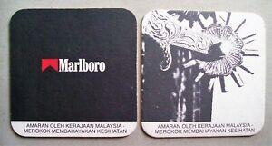 Marlboro-Boot-Spur-White-Black-Square-Mat-Coaster-x2