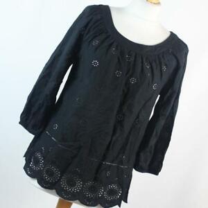 F-amp-F-Womens-Size-8-Black-Plain-Cotton-Blouse
