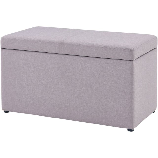 Better Homes & Gardens 30-inch Hinged Storage Organizer Ottoman Sand