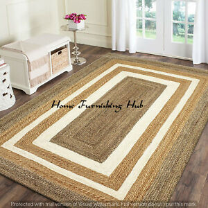 Natural Jute Handmade Floor Reversible