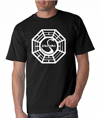 Dharma Initiative T-shirt Lost TV Show 5 Colors S-3XL