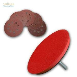 Touch-Fastener-Grinding-Pads-Set-for-Drill-with-50-Sanding-Discs-Sandpaper