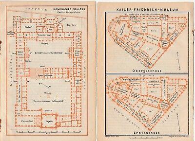Berlin - Grundriss Kaiser Fr- Museum/köngl.sch Aus Baedeker Reiseführer Von 1914 Professionelles Design