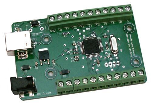 USB I//O /& DAQ unit 18 GPIO 12 bit ADC 4 PWM DAC UART SPI and more...