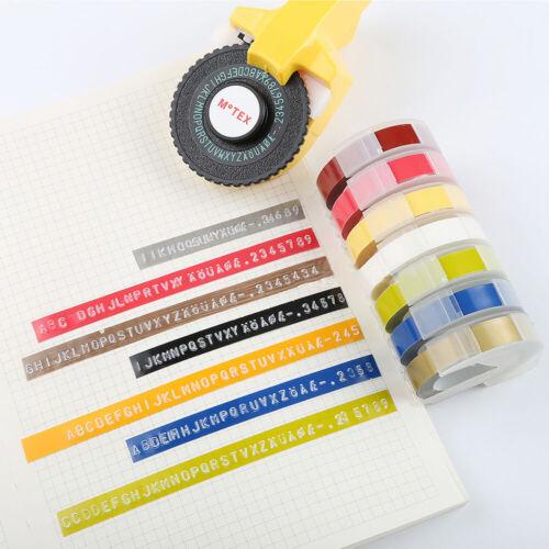 3PK Manual Embossing Label Maker Tape Compatible DYMO Printer Cutting 9mm 12mm