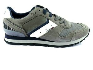 Tommy-Hilfiger-Aron-Men-039-s-Sneakers-Low-Low-Shoes-Lace-up-Grey-Size-42