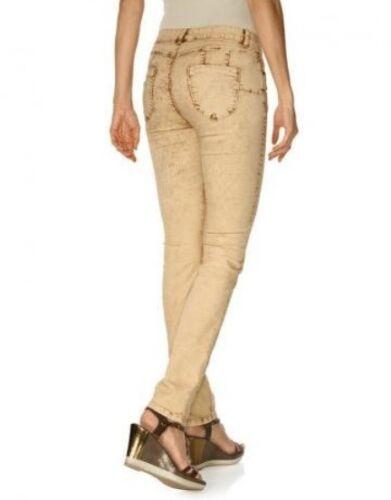 B.C Damen Skinnyhose Hose Jeans Röhre Skinny Stretch Curry Kurzgröße 176305
