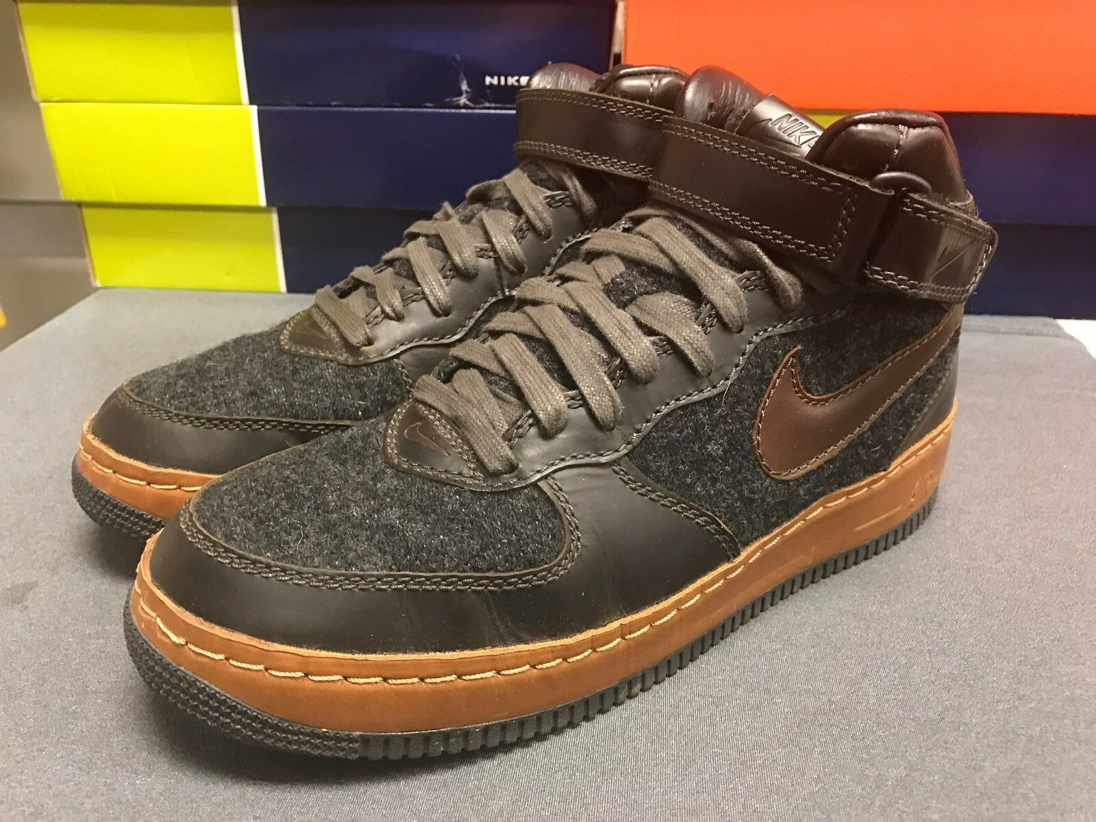 Sz 10.5 2004 NIKE AIR FORCE 1 MID INSIDE OUT 309379-001 Vintage