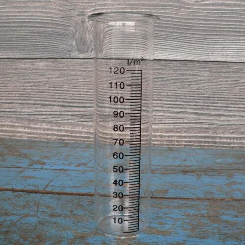 4cm Echtglas mit Skala Garten 6 Stück Regenmesser Ersatzglas Glas Höhe 15cm d
