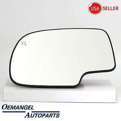 Drivers Power Side View Mirror Glass and Base Heated Replacement for Chevrolet Cadillac GMC Pickup Truck SUV 88986362