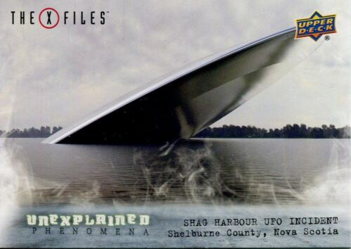 X Files UFOs /& Aliens Unexplained Phenomena Chase Card UP-9 Shag Harbour UFO in