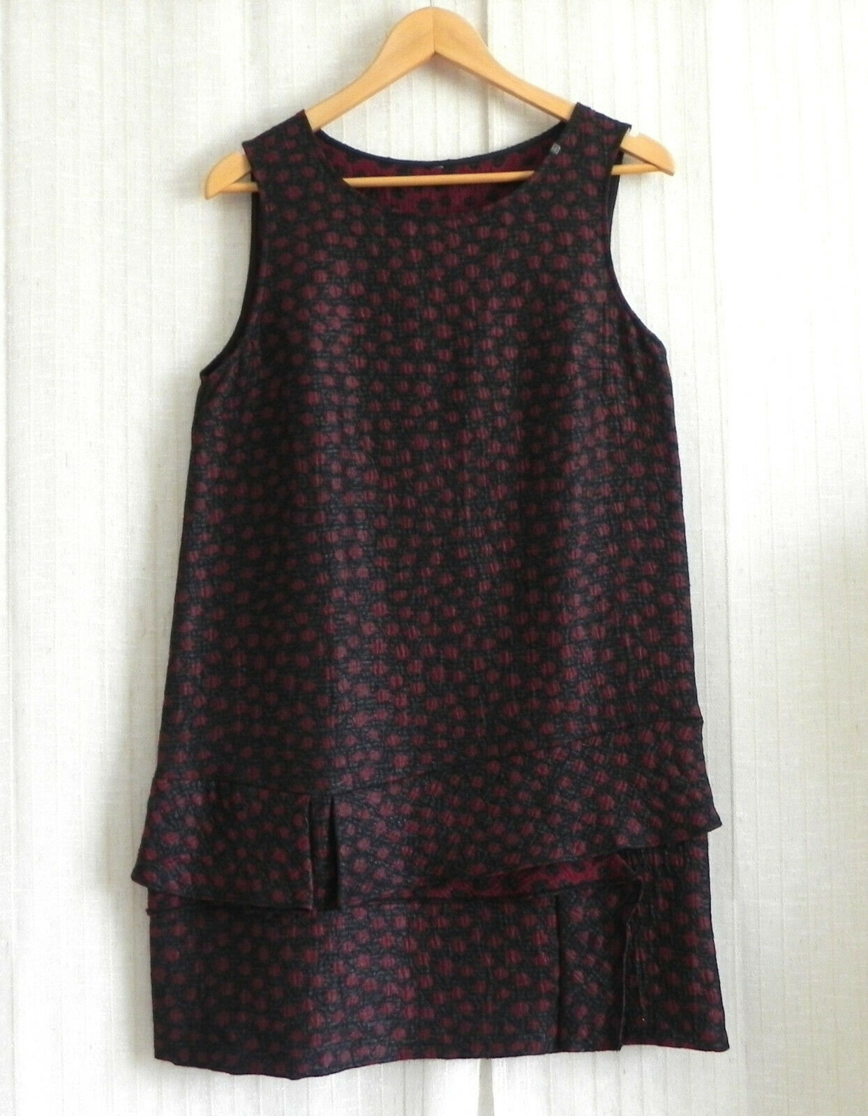 COP.Copine Dress Sleeveless Cotton Blend Grünigo Rosa Tunic Style Größe 40(US L)
