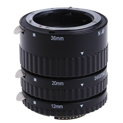 Auto Focus Macro Automatic Extension Tube Ring Set For Nikon Lens 12mm 20mm 36mm