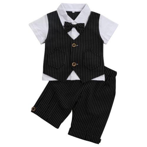 Gentleman Boys Suits Outfits Waistcoat Suit Wedding Boy Baby Formal Party