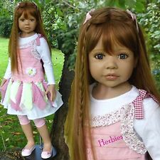 "Masterpiece Dolls Candy Strawberry Blonde, Blue Eyes by Monika Leveni, 44"" Vinyl"