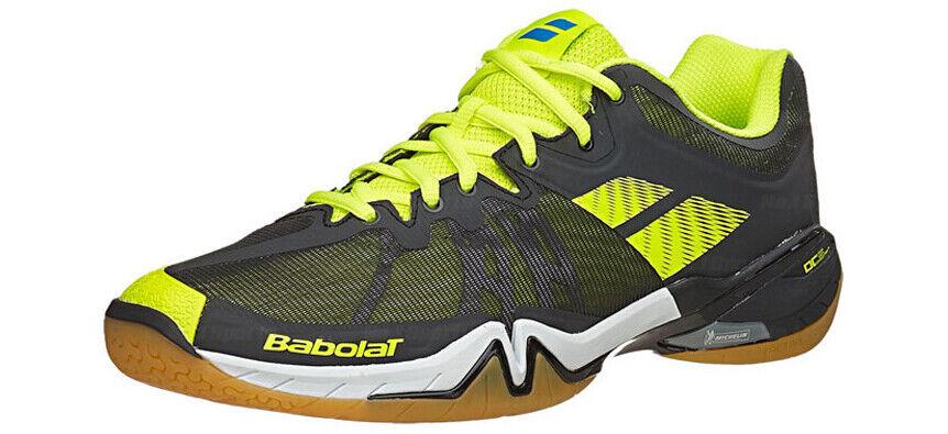 Babolat sombra Tour Zapatos para hombre Badminton Interior Tribunal Negro Amarillo 30S1688232