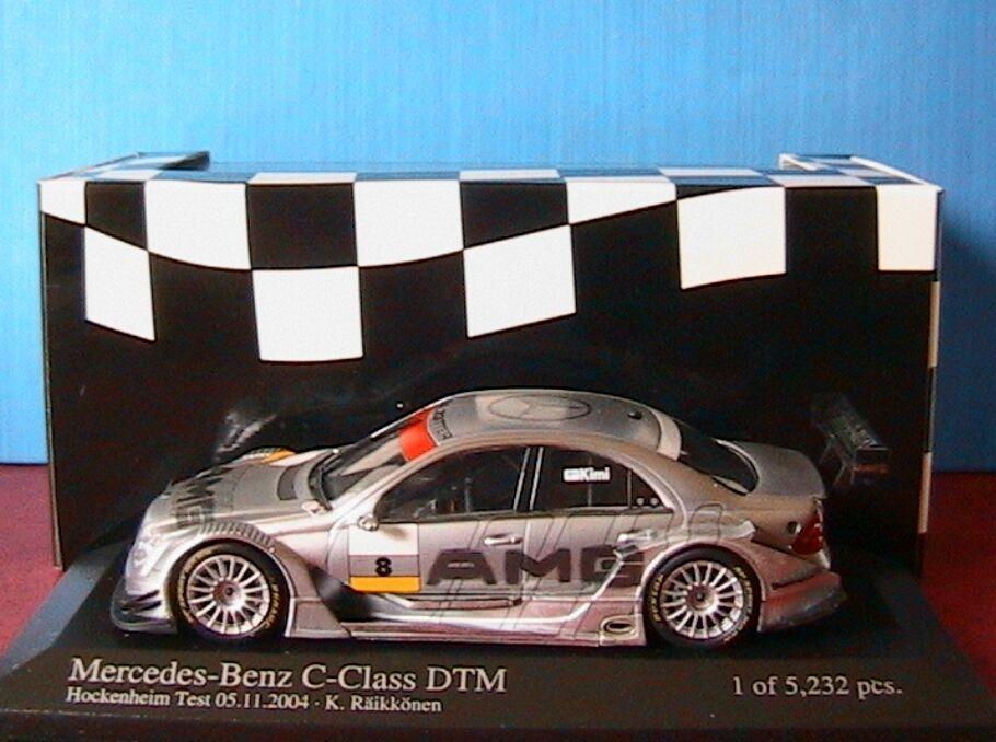 Mercedes c - klasse   8 dtm 2004 team amg räikkönen testwagen minichamps 1   43 classe