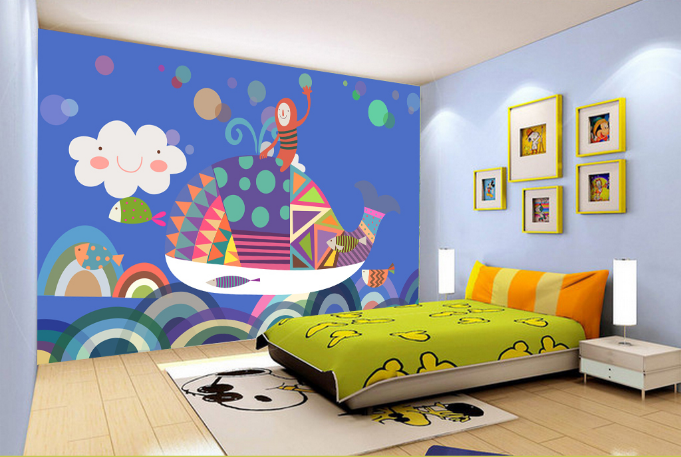 3D Cartoon Wal Malerei 58 Tapete Tapeten Mauer Foto Familie Tapete Wandgemälde