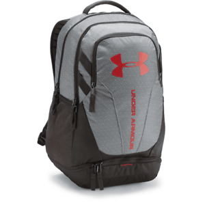 6a268c2490 Under Armour UA Hustle 3.0 Backpack OSFA Charcoal Grey Red 1294720 ...
