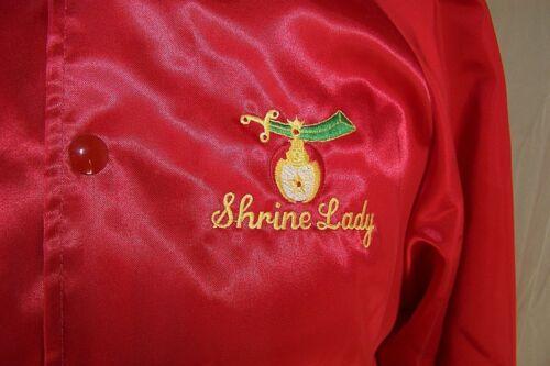 U Shrine Shriners a Jacket Satins af Medium Rød s Lady Broderet 8qZ8g