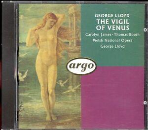 LLOYD  The Vigil Of Venus  JAMES  BOOTH  George LLOYD  Argo WG PDO - <span itemprop='availableAtOrFrom'>High Wycombe, Buckinghamshire, United Kingdom</span> - LLOYD  The Vigil Of Venus  JAMES  BOOTH  George LLOYD  Argo WG PDO - High Wycombe, Buckinghamshire, United Kingdom