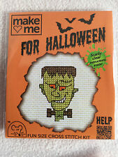 MOUSELOFT CROSS STITCH KIT ~  MAKE ME FOR HALLOWEEN ~ FRANKIE ~ NEW